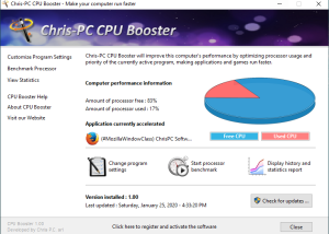 Chris-PC CPU Booster screenshot