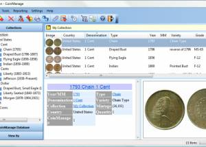 CoinManage USA Coin Collecting Software screenshot