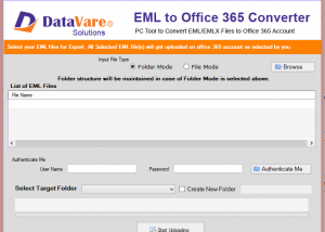 Datavare EML to Office 365 Converter So screenshot