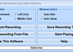 Record Mouse Movements and Clicks Software screenshot