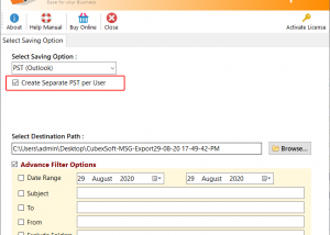 Save MSG File to PDF Document screenshot