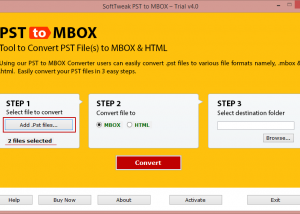 Smart PST to MBOX Converter screenshot