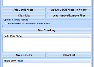 Validate Multiple JSON Files Software screenshot
