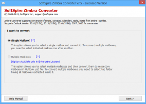 Zimbra Migration screenshot